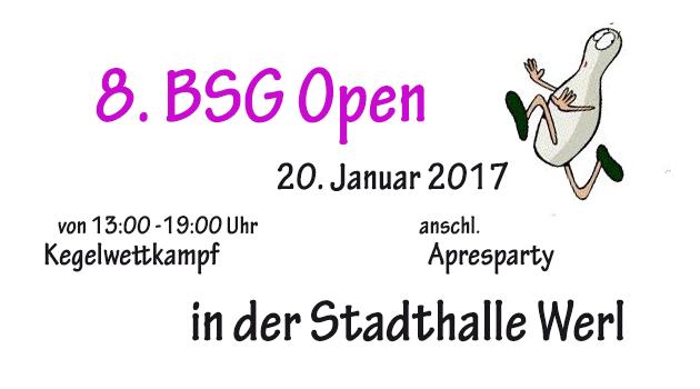 8. BSG Open 2017 - Anstaltsmeister gesucht...