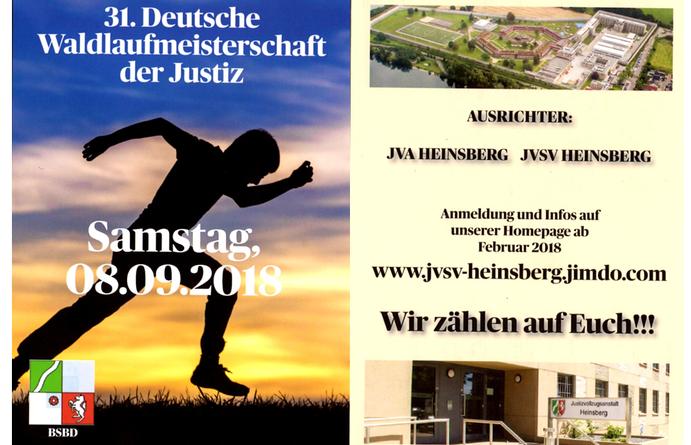 JVSV Heinsberg richtet Waldlaufmeisterschaft 2018 aus