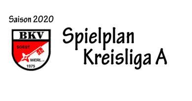 Spielplan Kreisliga A 2020