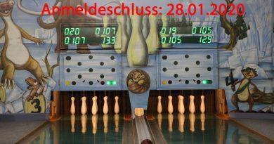Anmeldeschluss zur Deutschen Kegelmeisterschaft 2020