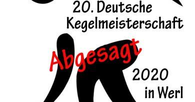 Deutsche Kegelmeisterschaft abgesagt
